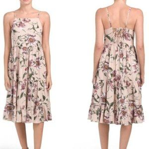 Band of Gypsies Sleeveless Floral Tiered Dress S